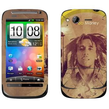 Виниловая наклейка «Боб Марлей» на телефон HTC Desire S