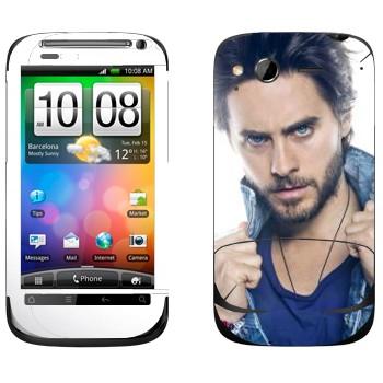 Виниловая наклейка «Джаред Лето» на телефон HTC Desire S