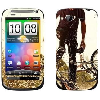 Виниловая наклейка «BMX» на телефон HTC Desire S