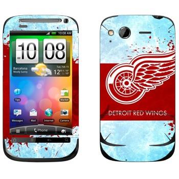 Виниловая наклейка «Detroit red wings» на телефон HTC Desire S