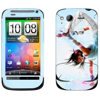 Виниловая наклейка «Брейк данс» на телефон HTC Desire S