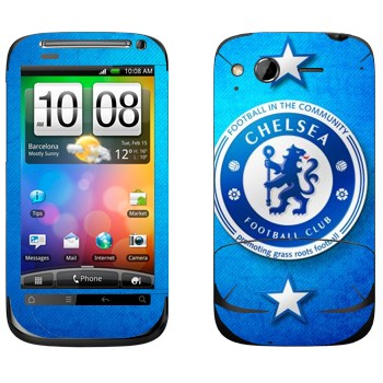 Виниловая наклейка «Челси логотип на голубом фоне» на телефон HTC Desire S