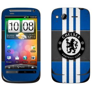 Виниловая наклейка «Челси логотип» на телефон HTC Desire S
