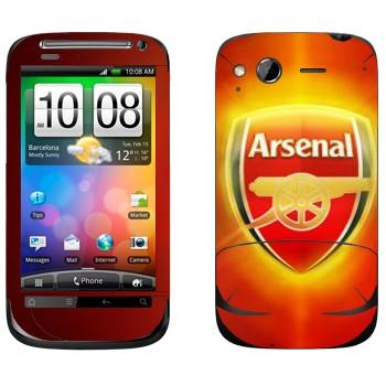 Виниловая наклейка «ФК Арсенал» на телефон HTC Desire S