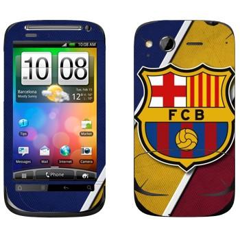 Виниловая наклейка «ФК Барселона логотип» на телефон HTC Desire S