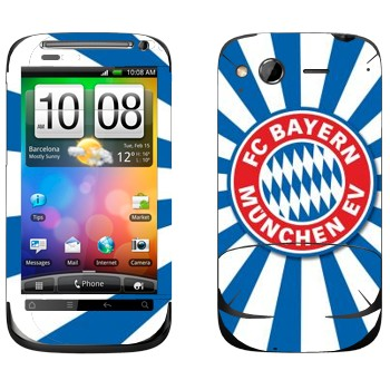 Виниловая наклейка «ФК Бавария эмблема» на телефон HTC Desire S