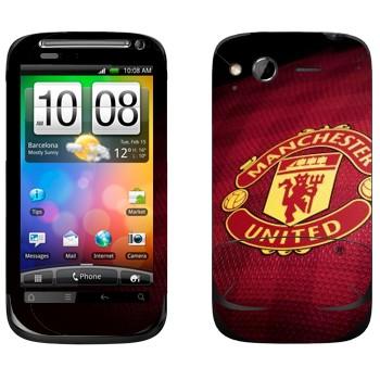 Виниловая наклейка «ФК Манчестер Юнайтед» на телефон HTC Desire S