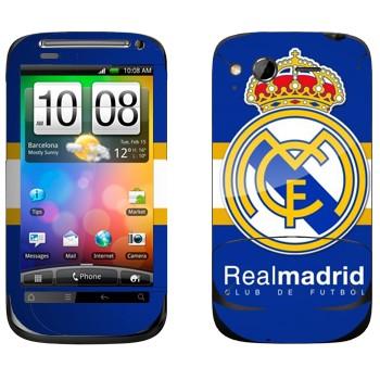 Виниловая наклейка «ФК Реал Мадрид» на телефон HTC Desire S