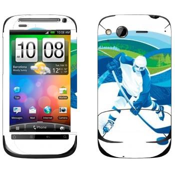 Виниловая наклейка «Хоккей» на телефон HTC Desire S