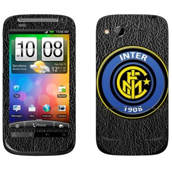 Виниловая наклейка «Интер эмблема на сером фоне» на телефон HTC Desire S