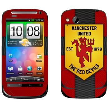 Виниловая наклейка «Красные дьяволы - Манчестер Юнайтед» на телефон HTC Desire S