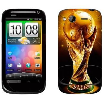 Виниловая наклейка «Кубок Чемпионов мира по футболу» на телефон HTC Desire S