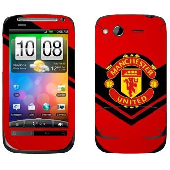 Виниловая наклейка «Манчестер Юнайтед» на телефон HTC Desire S