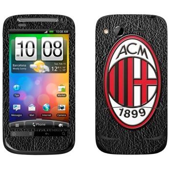 Виниловая наклейка «Милан эмблема» на телефон HTC Desire S