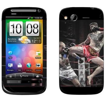 Виниловая наклейка «Муай Тай» на телефон HTC Desire S