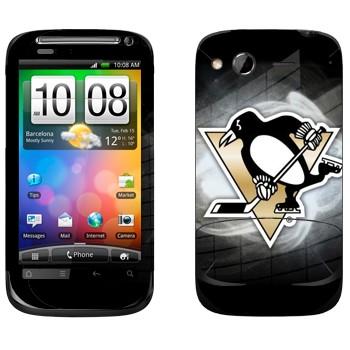 Виниловая наклейка «Питтсбург Пингвинз» на телефон HTC Desire S