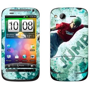 Виниловая наклейка «Роллер» на телефон HTC Desire S