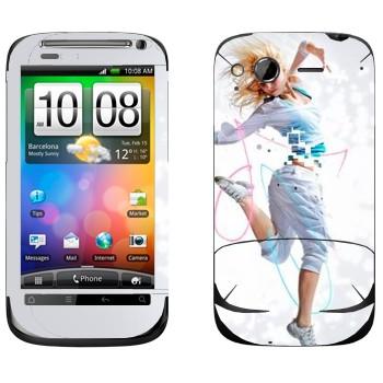 Виниловая наклейка «Современный танец» на телефон HTC Desire S