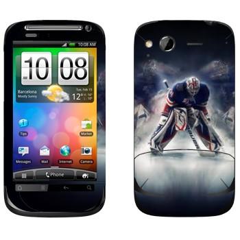 Виниловая наклейка «Вратарь НХЛ» на телефон HTC Desire S