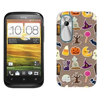 Виниловая наклейка «Хэллоуин обложка» на телефон HTC Desire X