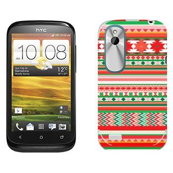 Виниловая наклейка «Хипстерский новогодний узор» на телефон HTC Desire X
