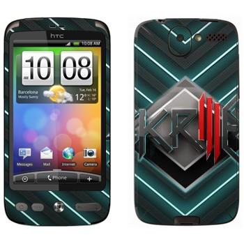 Виниловая наклейка «Skrillex логотип» на телефон HTC Desire