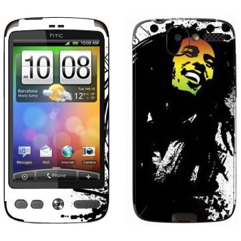 Виниловая наклейка «Боб Марли» на телефон HTC Desire