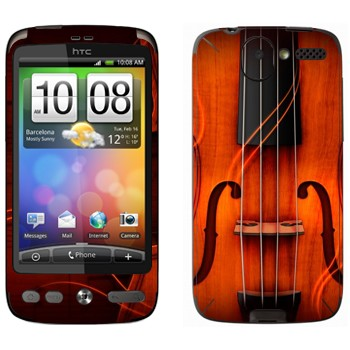 Виниловая наклейка «Скрипка» на телефон HTC Desire