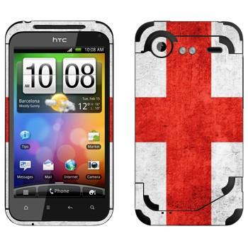 Виниловая наклейка «Флаг Англии» на телефон HTC Incredible S