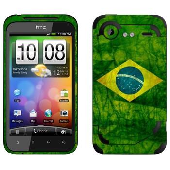 Виниловая наклейка «Флаг Бразилии» на телефон HTC Incredible S