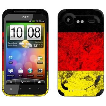 Виниловая наклейка «Флаг Германии» на телефон HTC Incredible S