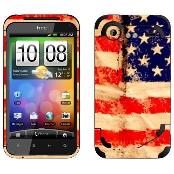 Виниловая наклейка «Флаг Соединенных Штатов Америки» на телефон HTC Incredible S