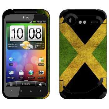 Виниловая наклейка «Флаг Ямайки» на телефон HTC Incredible S