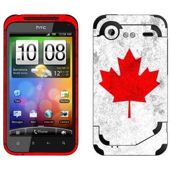 Виниловая наклейка «Канада флаг» на телефон HTC Incredible S