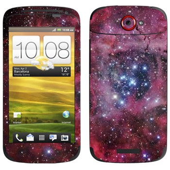 Виниловая наклейка «Космос - Туманность» на телефон HTC One S