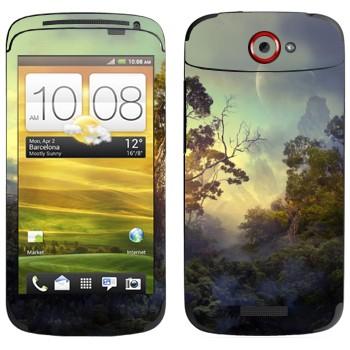 Виниловая наклейка «Лес на Пандоре» на телефон HTC One S