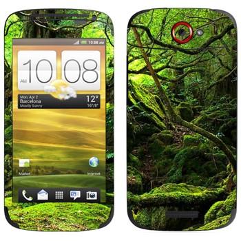 Виниловая наклейка «Лес во мху» на телефон HTC One S