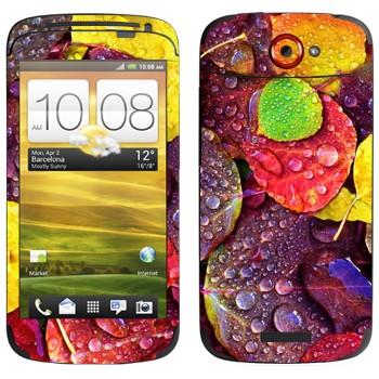 Виниловая наклейка «Осенние листья» на телефон HTC One S