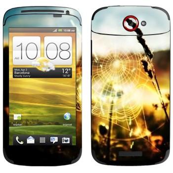 Виниловая наклейка «Паутина» на телефон HTC One S
