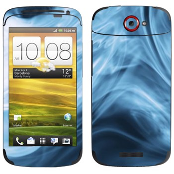 Виниловая наклейка «Синий дым» на телефон HTC One S