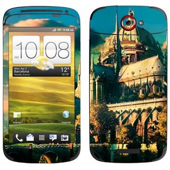 Виниловая наклейка «Сказочный замок» на телефон HTC One S