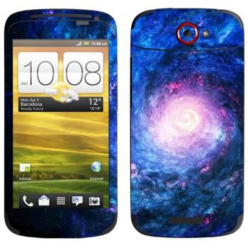Виниловая наклейка «Спиралевидная галактика» на телефон HTC One S