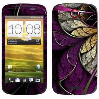 Виниловая наклейка «Цветок фиолетовый» на телефон HTC One S