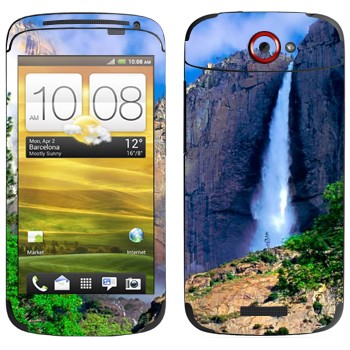 Виниловая наклейка «Водопад» на телефон HTC One S