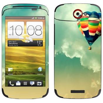 Виниловая наклейка «Воздушный шар в небе» на телефон HTC One S