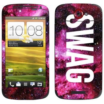 Виниловая наклейка «Надпись SWAG» на телефон HTC One S