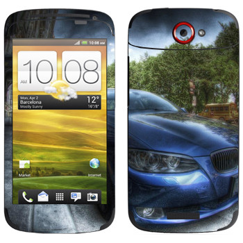 Виниловая наклейка «BMW рисунок» на телефон HTC One S