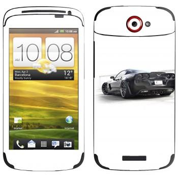 Виниловая наклейка «Chevrolet Corvette» на телефон HTC One S