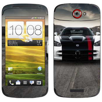 Виниловая наклейка «Dodge Viper» на телефон HTC One S