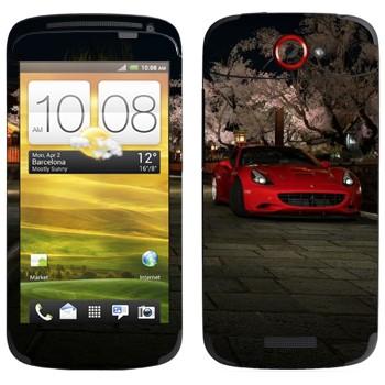Виниловая наклейка «Красная Ferrari» на телефон HTC One S